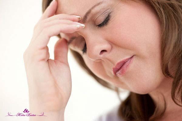 chóng mặt tiền mãn kinh ở phụ nữ